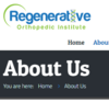 Regenerative Orthopedic Institute | Don't Operate