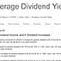 Average Dividend Yield