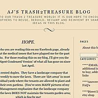 AJ's Trash2Treasure BLOG