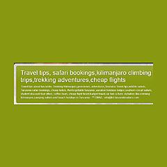 Travel tips, tanzanite, safari bookings,kilimanjaro climb,trekking adventures,marketing