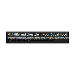Nightlife and Lifestyle in your Dubai-hood
