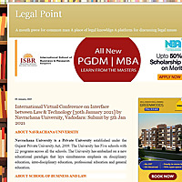 Legal Point | A mouth piece for common man A place of legal knowldge A platform for discussing legal
