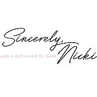 Sincerely Nicki - A Christian Lifestyle Blog