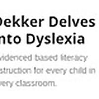 Dekker Delves into Dyslexia