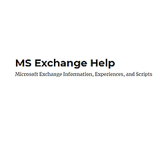 MS Exchange Help