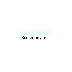 Sail on my boat