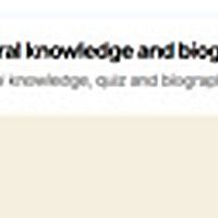 general knowledge and biography