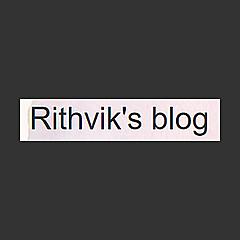 Rithvik's blog