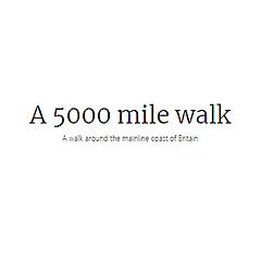 A 5000 mile walk