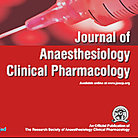 Journal of Anaesthesiology Clinical Pharmacology