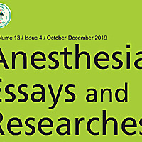 Anesthesia: Essays and Researches