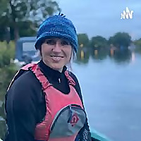 Choir leader in a kayak. Daily adventures