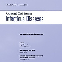 Current Opinion in Infectious Diseases - Current Issue