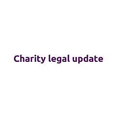Charity Legal Update
