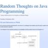 Random Thoughts on Java Programming
