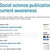 Social science publications current awareness