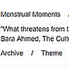 Menstrual Moments