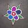 easy rangoli art