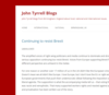 John Tyrrell Blogs