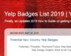 Yelp Badges List 2019 | Yelp Badger's Blogspot