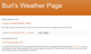 Burl's Weather Page