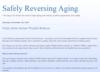 Safely Reversing Aging