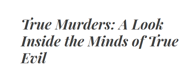 True Murders