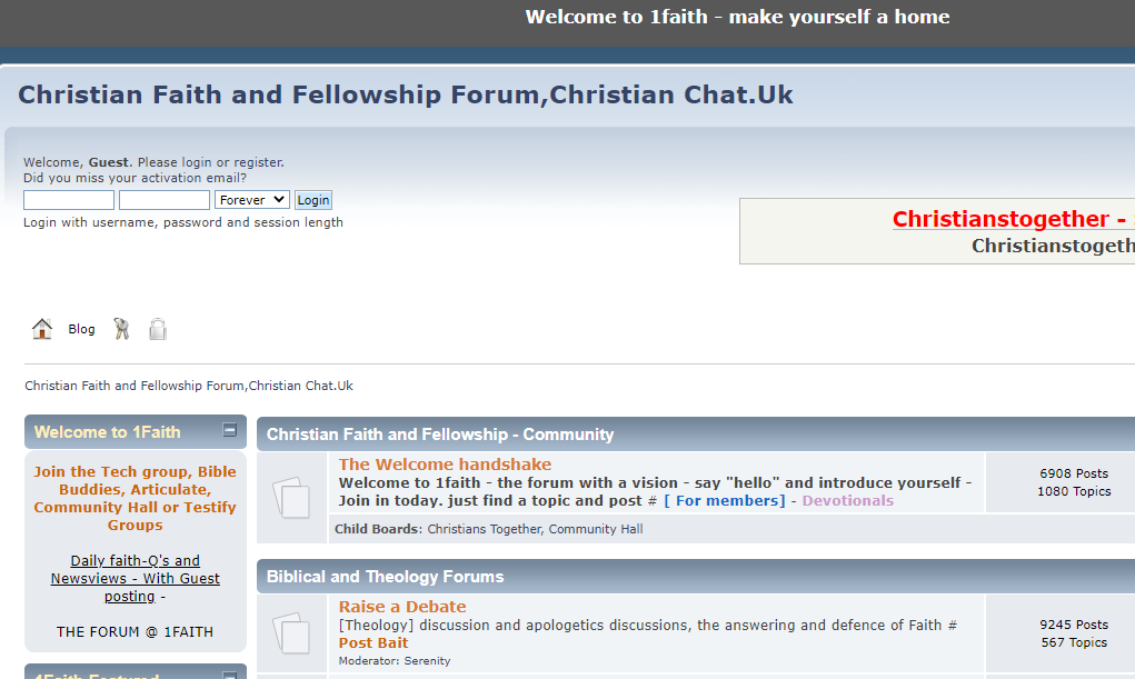 1Faith | Christian Faith and Fellowship Forum