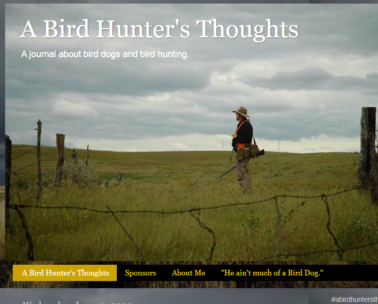 A Bird Hunter's Thoughts | A journal about bird dogs and bird hunting.