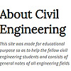 About Civil Engineering