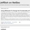 JeffSoh on NetSec