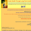 Create Wealth : Through Long-Term Investing and Short-Term Trading