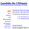 Lambda the Ultimate - Programming Languages Weblog